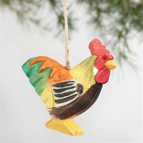animal ornaments wood farm animal ornaments set of 4 world market