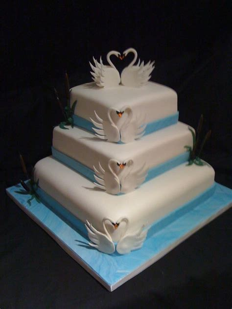 swan cake   Swan song   Wedding cakes, Wedding cake