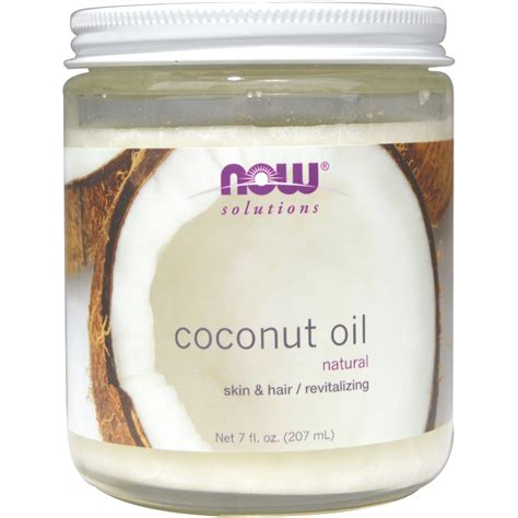 what is l oil now foods coconut oil natural 7 fl oz 207 ml iherb com