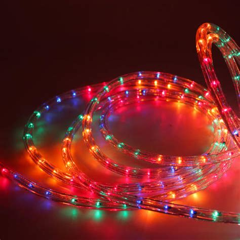 christmas outdoor 10m rope light with multi function