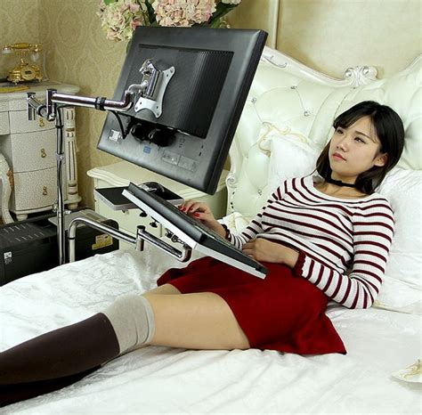 laptop holder for bed universal adjustable desktop computer laptop bed table