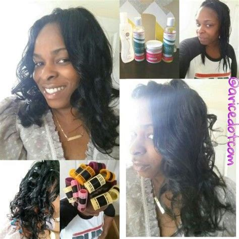 diy relaxed hairstyles wash day roller set relaxed hair diy kurlee belle hair