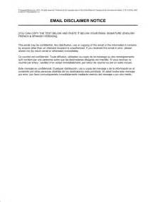 disclaimer templates email disclaimer notice english french spanish template