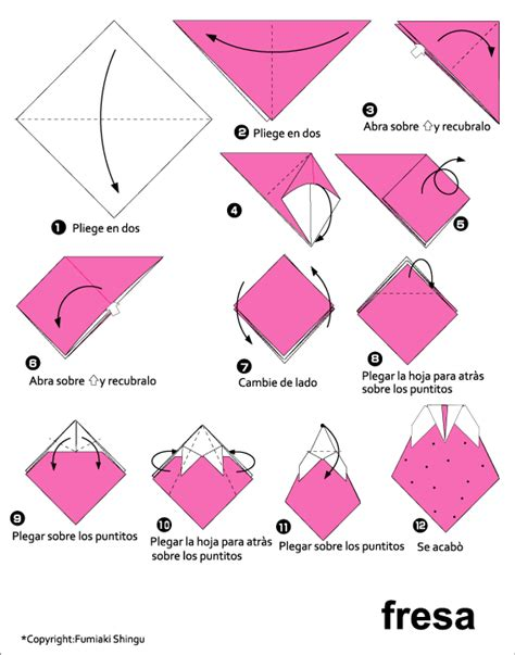 How To Make A Paper Strawberry - origami strawberry