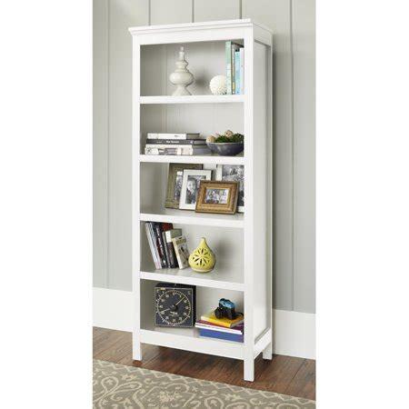walmart white shelves 10 burlington collection 5 shelf bookcase colors walmart