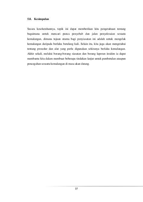 format laporan insiden bab5 penyiasatan