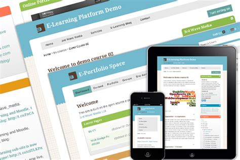 moodle theme base moodle mahara and mahoodle elearning themes