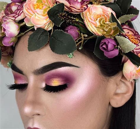 scow up flower makeup