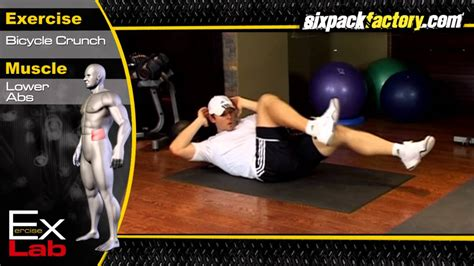 bicycle crunch  oblique exercises side abs youtube