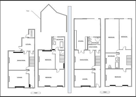 8 By 10 Bathroom Floor Plans 2 storey rear extension with possible loft conversion