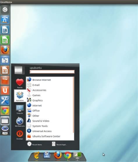 ubuntu awn how to add a start menu with the unity interface on ubuntu
