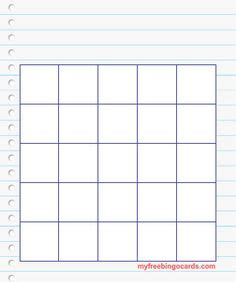 5x5 inch card template bingo card templates cards bingo template