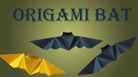 How To Make A Origami Bat - how to make origami bat