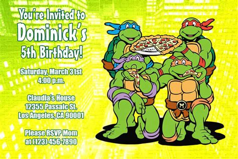 turtle birthday card template turtle birthday invitations ideas bagvania free