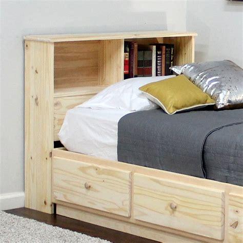 twin bookcase headboard  high  pine bookcase