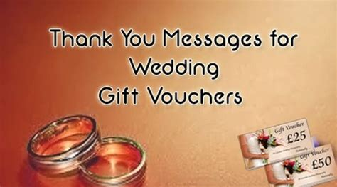 thank you messages for wedding presents thank you messages for wedding gift vouchers