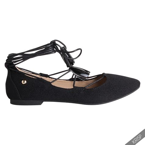 pointed flat sandals womens lace up pointed ballerina shoes ankle wrap ballet