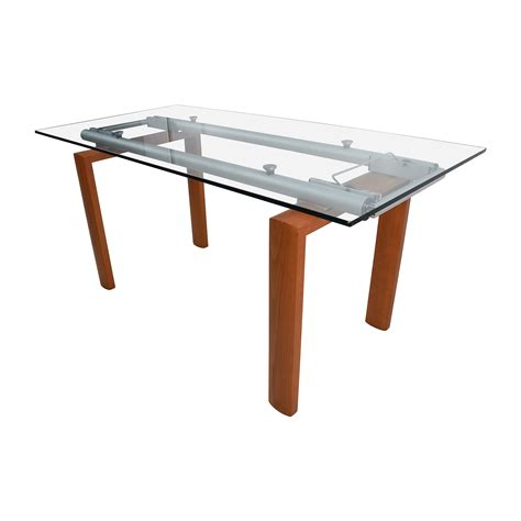 90 Off Custom Made Glass Dining Table Tables Custom Glass Dining Table