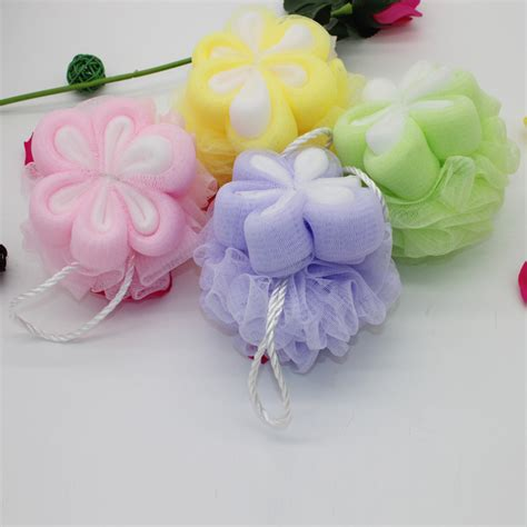 wholesale baby shower favors high quality loofah sponge mesh bath sponge bath