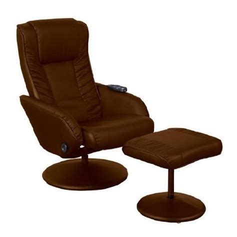 Brown Leather Swivel Recliner Chair Relaxateeze Lazio Brown Faux Leather Swivel