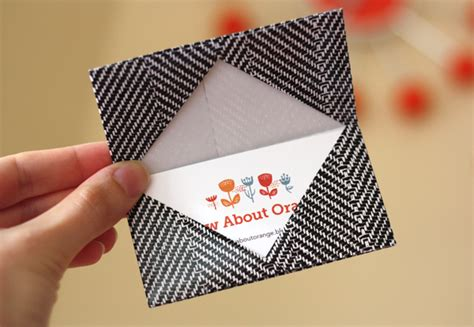 How To Make A Origami Card - how to make an origami business card holder how about orange