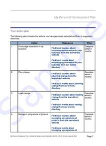 Development Plan Template by Development Plan Template Cyberuse