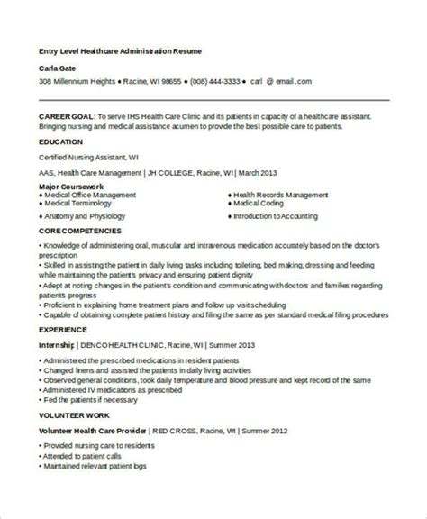 Resume Objective Entry Level Healthcare