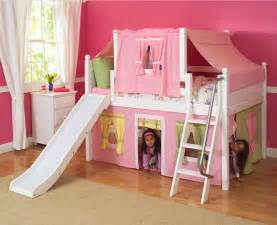 2 story playhouse low loft bed w slide by maxtrix p