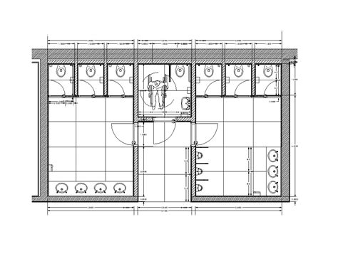 bathroom layout dimensions 2d cad restroom cadblocksfree cad blocks free