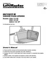 liftmaster 3255 support and manuals