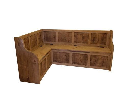 Corner Bench Large Rustic Style Corner Dining Bench With Storage Can Be