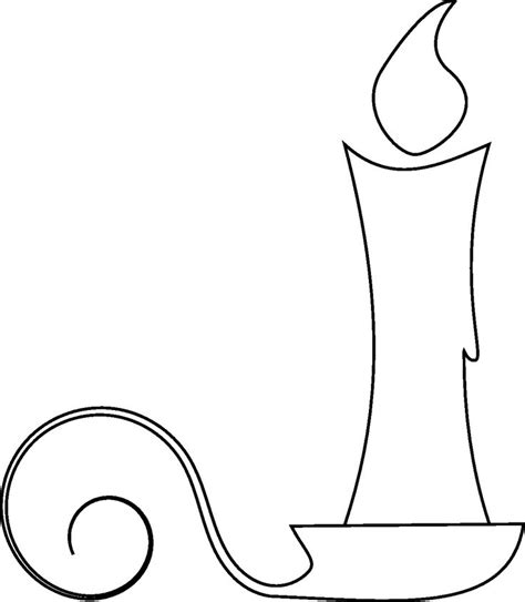 Candle Outline by Festive Freebies Free Digital Sts For Your Crafts Coloring Image Search And