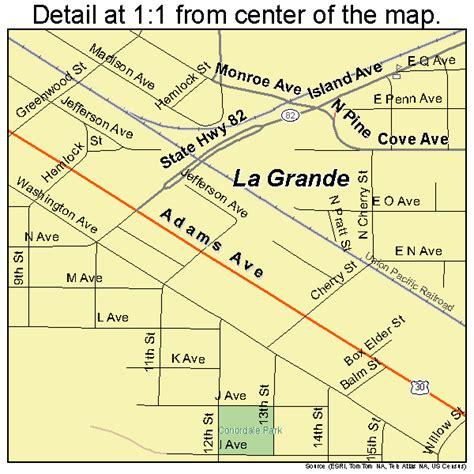 la grande oregon map la grande oregon map 4140350