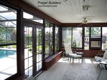 orlando sunroom acrylic window enclosure prager builders