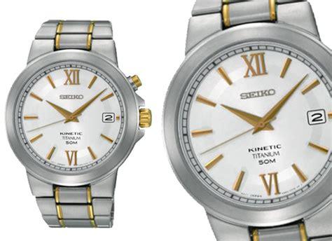 Seiko Kinetic Ska485p1 Titanium Silver Jam Pria Ska485 seiko s watches