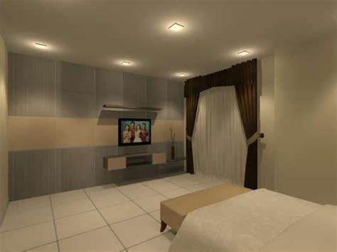 Bedroom Tv Console Design Master Bedroom Partition With Tv Console Interior Design