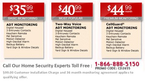 specials adt home sercurity systems service