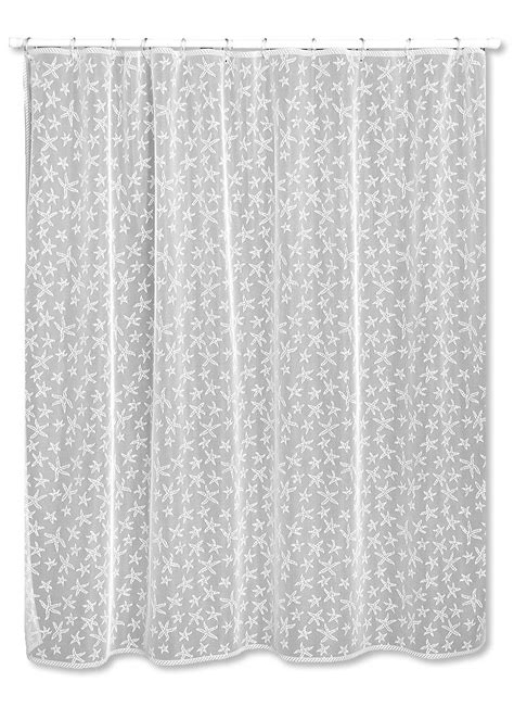 starfish shower curtain starfish shower curtain heritage lace