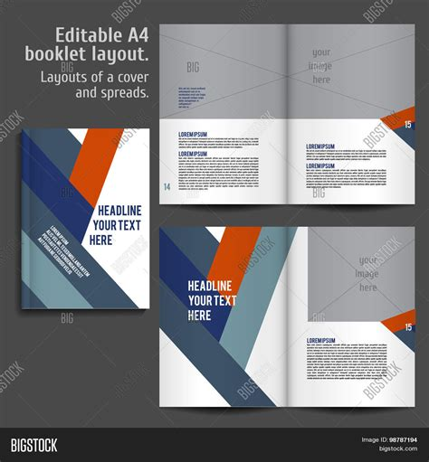 performance and layout page 2 a4 book layout design template stock vector stock photos