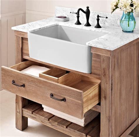 Bathroom Vanity With Farmhouse Sink Napa 36 Quot Farmhouse Vanity Sonoma Sand Fairmont Designs Fairmont Designs