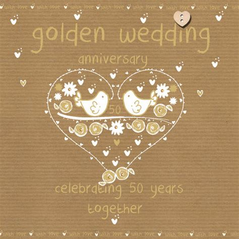 Wedding Anniversary Golden by Anniversary Cards Collection Karenza Paperie