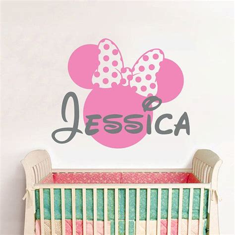 Tokomonster Minnie Mouse 4 Name Wall Decal Sticker Size 23 wall decal vinyl sticker decals home decor design mural disney personalized custom baby name