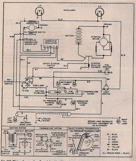 ford 3000 tractor approx wiring diagram ford tractor