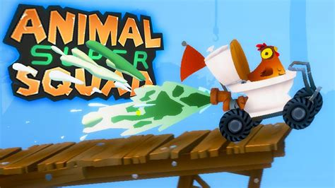 chicken fart propulsion animal super squad youtube