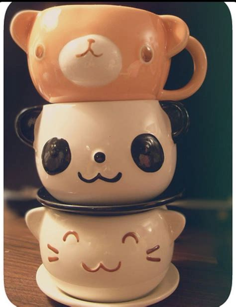cute animal mugs bear panda cat mugs mugs pinterest