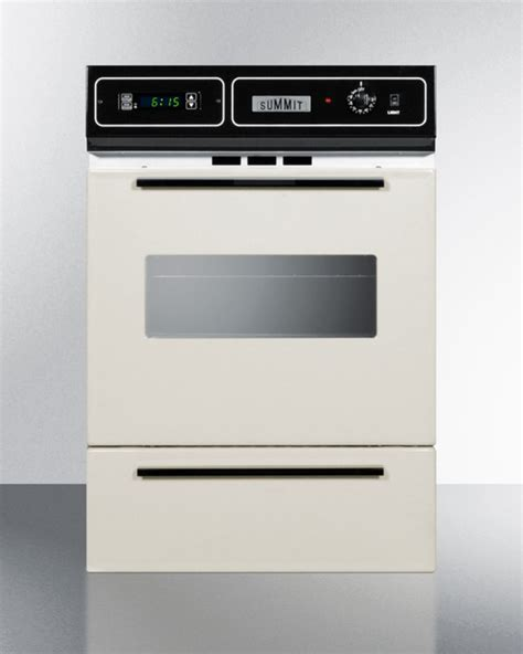 Oven Gas Digital stm7212kw summit bisque gas wall oven with electronic