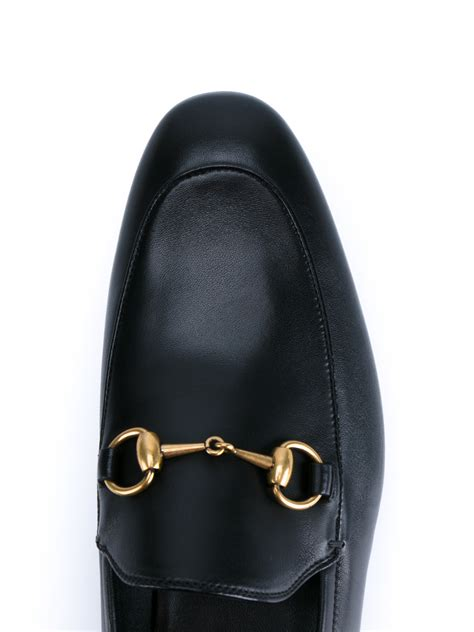 Gucci Leather 2 lyst gucci horsebit leather loafers in black for