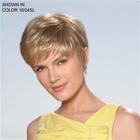 dorothy hamill wigs short layers with rounded silhouette full sweep of bangs