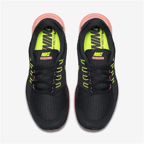 nike womens free 5 0 running shoes black yellow mango