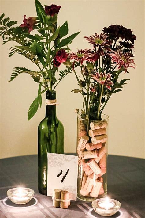 Wine Bottle Vase Centerpieces by Best 25 Wine Cork Centerpiece Ideas On